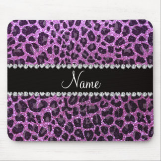 Estampado leopardo púrpura en colores pastel conoc alfombrillas de ratones