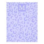 Estampado leopardo púrpura en colores pastel. Mono Flyer A Todo Color