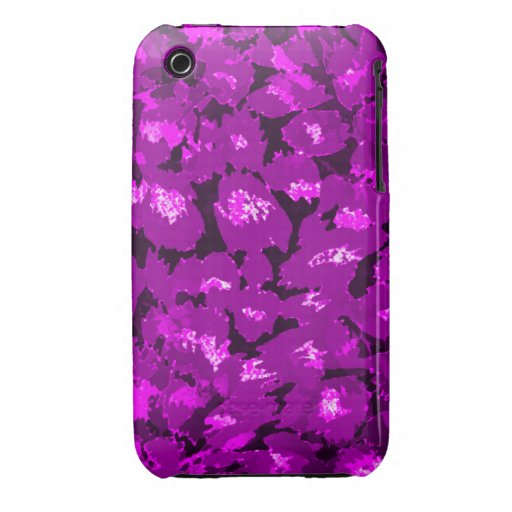 Estampado leopardo púrpura iPhone 3 Case-Mate cárcasa