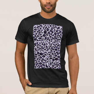 Estampado leopardo púrpura playera