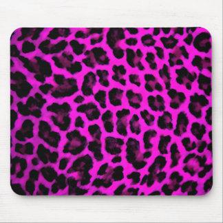Estampado leopardo púrpura tapete de ratones