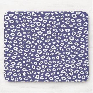 Estampado leopardo púrpura tapete de ratón