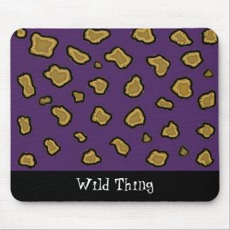 Estampado leopardo púrpura alfombrillas de ratones