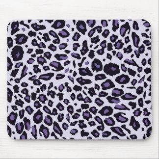 Estampado leopardo púrpura alfombrillas de raton