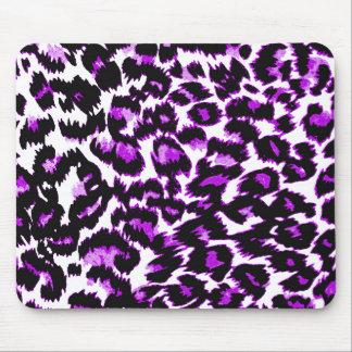 Estampado leopardo púrpura y negro tapetes de ratones