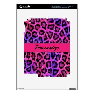 """Estampado leopardo púrpura y rosado "" iPad 3 Pegatina Skin"