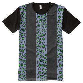 Estampado leopardo rayado amplio (colores