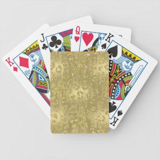 Estampado leopardo reluciente del oro baraja de cartas bicycle