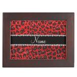 Estampado leopardo rojo de neón conocido de encarg cajas de recuerdos