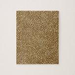 Estampado leopardo rompecabezas con fotos
