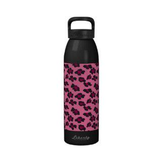 Estampado leopardo rosado botella de beber