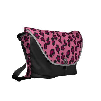 Estampado leopardo rosado bolsas de mensajería