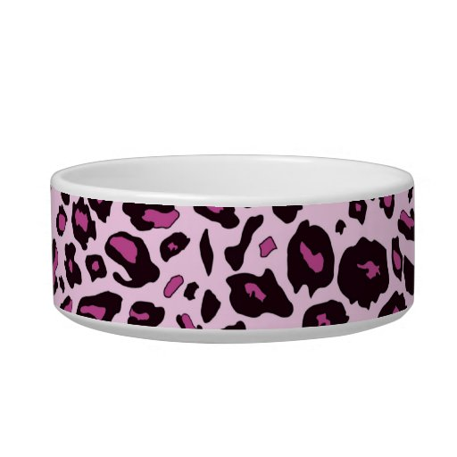 Estampado leopardo rosado tazones para comida para gato
