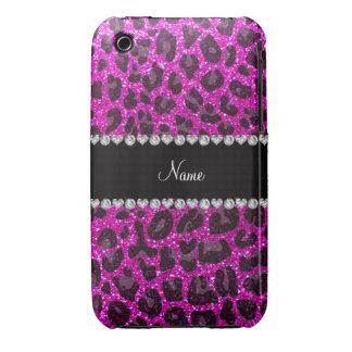 Estampado leopardo rosado de neón conocido de enca iPhone 3 cobertura