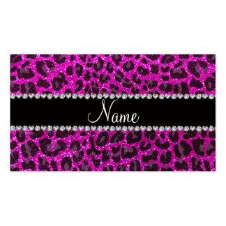 Estampado leopardo rosado de neón conocido de tarjetas de visita