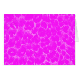 Estampado leopardo rosado de neón tarjeta de felicitación