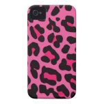 Estampado leopardo rosado femenino Case-Mate iPhone 4 fundas