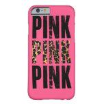 estampado leopardo rosado funda de iPhone 6 barely there