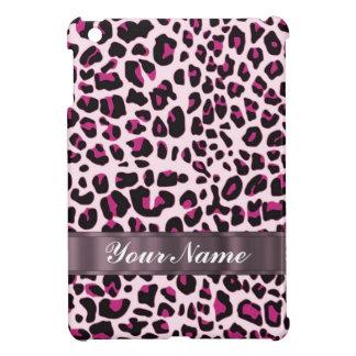 Estampado leopardo rosado iPad mini cárcasas