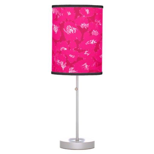 Estampado leopardo rosado lámpara de mesilla de noche
