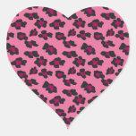 Estampado leopardo rosado calcomanía corazón personalizadas