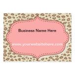 Estampado leopardo rosado poner crema tarjetas personales