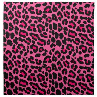 Estampado leopardo rosado punky servilleta