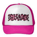Estampado leopardo rosado retro gorros