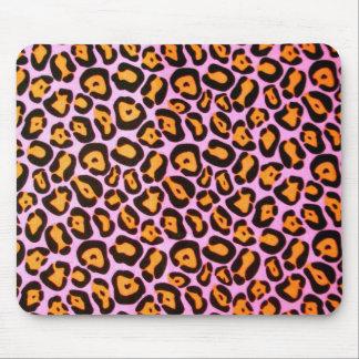 Estampado leopardo rosado tapetes de raton
