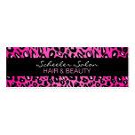 Estampado leopardo rosado - tarjeta de visita flac