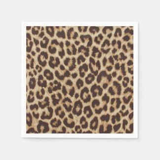 Estampado leopardo servilleta desechable