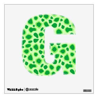 Estampado leopardo - sombras de la verde lima vinilo adhesivo