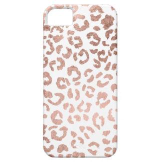Estampado leopardo subió dibujado mano lujosa del iPhone 5 funda