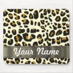 estampado leopardo tapete de ratón