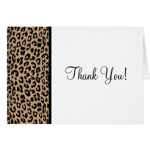Estampado leopardo tarjeta