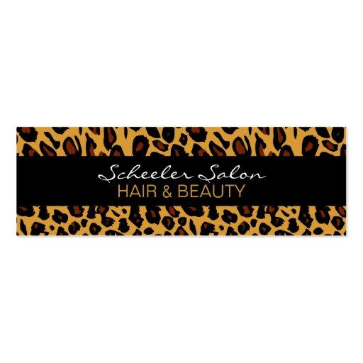 Estampado leopardo - tarjeta de visita flaca de en