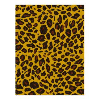 Estampado leopardo tarjeta postal