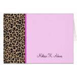 Estampado leopardo tarjetas