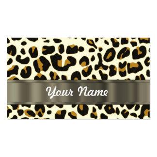 estampado leopardo tarjetas de visita