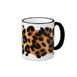 Estampado leopardo tazas