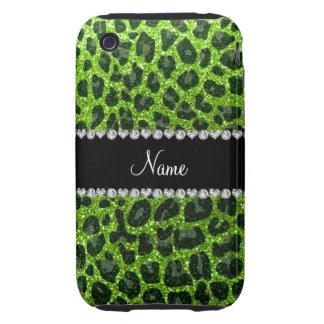 Estampado leopardo verde de neón conocido de encar iPhone 3 tough carcasas