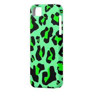 Estampado leopardo verde imponente - caso del iPho iPhone 5 Cobertura