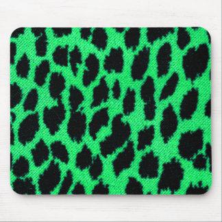 Estampado leopardo verde alfombrillas de raton