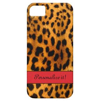 Estampado leopardo, w/Red - caja personalizada iPh iPhone 5 Case-Mate Coberturas