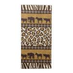 Estampado leopardo y animales africanos servilleta de papel