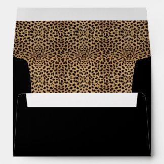 Estampado leopardo y sobre negro