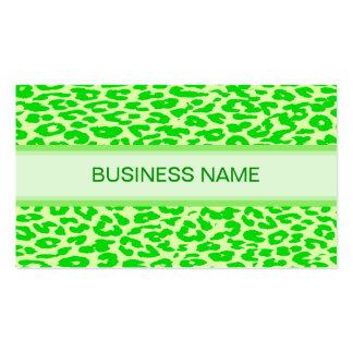 Estampado leopardo y verde lima llana plantillas de tarjetas personales