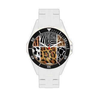 Estampados de animales diversos reloj de mano