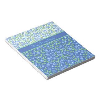 Estampados de flores azules de encargo de Ditsy de Bloc De Notas