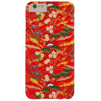 Estampados de flores japoneses coloridos lindos funda para iPhone 6 plus barely there